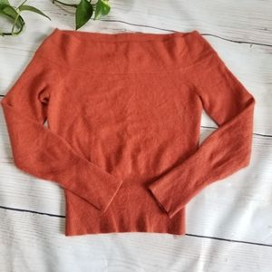 The Limited 100% Cashmere Rust Top Sz M